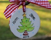 Personalized Ceramic Christmas tree ornament