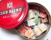 Mixed Tin of Vintage Stamps