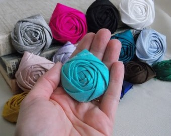 Wholesale flowers, bridal flowers, wedding flowers, wedding decoration, fabric flowers, rolled rosettes, diy bouquet, rolled rose