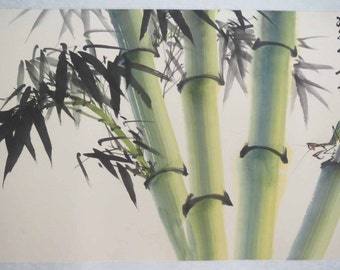 Original Chinese painting-Bamboo and Insect(bamboo and mantis)