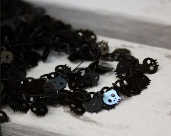 cute black skull charm chain