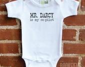 Mr. Darcy is my co-pilot children's bodysuit or t-shirt