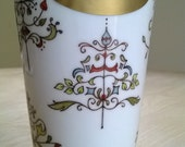 Insulated Porcelain Hand Painted Travel Mug with Lid