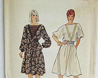 RARE Vintage Misses' Dress Vogue 8393 Sewing Pattern UNCUT Size 10