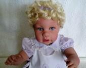 Reborn Doll 24 Inch Toddler Girl, vinyl manicured lifelike childlike baby handmade blonde hair birthday gift christmas