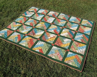 Prayer Flag Quilt ~ Finally, a manly quilt!