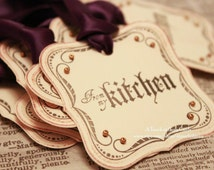 Halloween Gift Tags (Double Layered) - From My Kitchen Tags - Vintage Inspired Handmade Halloween Tags (Set of 8)