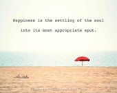 Inspirational Quote, Beach typography photography print