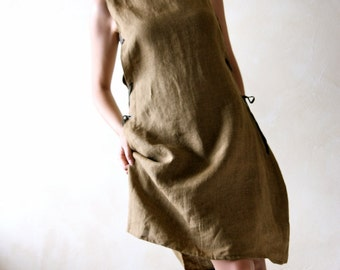 Medieval Tunic Dress, linen tunic, sleeveless dress, women dress, day dress, sundress, medieval dress, LARP tunic, linen dress, pinafore