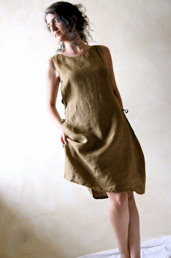 Medieval Tunic Dress, linen tunic, sleeveless dress, women dress, day dress, sundress, medieval dress, LARP tunic, linen dress, pinafore