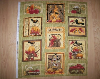 A Wonderful Funky Fall By Diane Knott Fabric Panel Free US Shipping