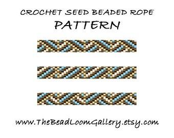 Beaded Rope Pattern - PDF File - Crochet Seed Beaded Rope - Vol.17 - Geometric Design