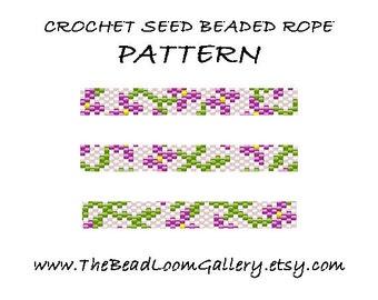 Beaded Rope Pattern - PDF File - Crochet Seed Beaded Rope - Vol.29 - Garden