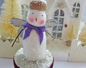 Angel Ornament Tiny Work of Art Vintage Inspired Snowmen 2