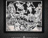 Danse Macabre / Dance of Death - Black Canvas Patch