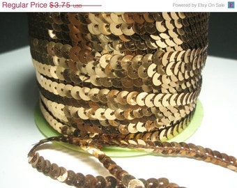 CLEARANCE SALE BRONZE Single Strand Sequins for Basketball Wives Inspired Billionaire Earrings - 5 yards