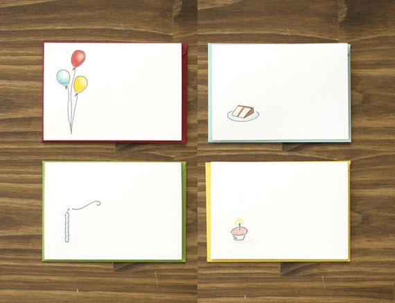 box of 8 birthday card variety pack