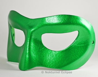 Green Lantern Leather Mask Justice League Cosplay Dawn of Justice Superhero Masquerade DC Comics Halloween - Available In Any Basic Color