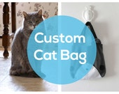 Personalized Cat Bag - Custom Kitty Tote Bag, Schoolbag, Backpack, Animal Tote Bag, Reusable Bag, Handmade Tote,  Christmas Gift
