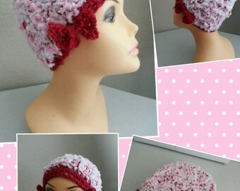 Pink rainbow soft child hat