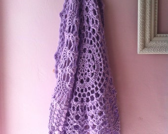 Lavender Doily Blanket in Crochet