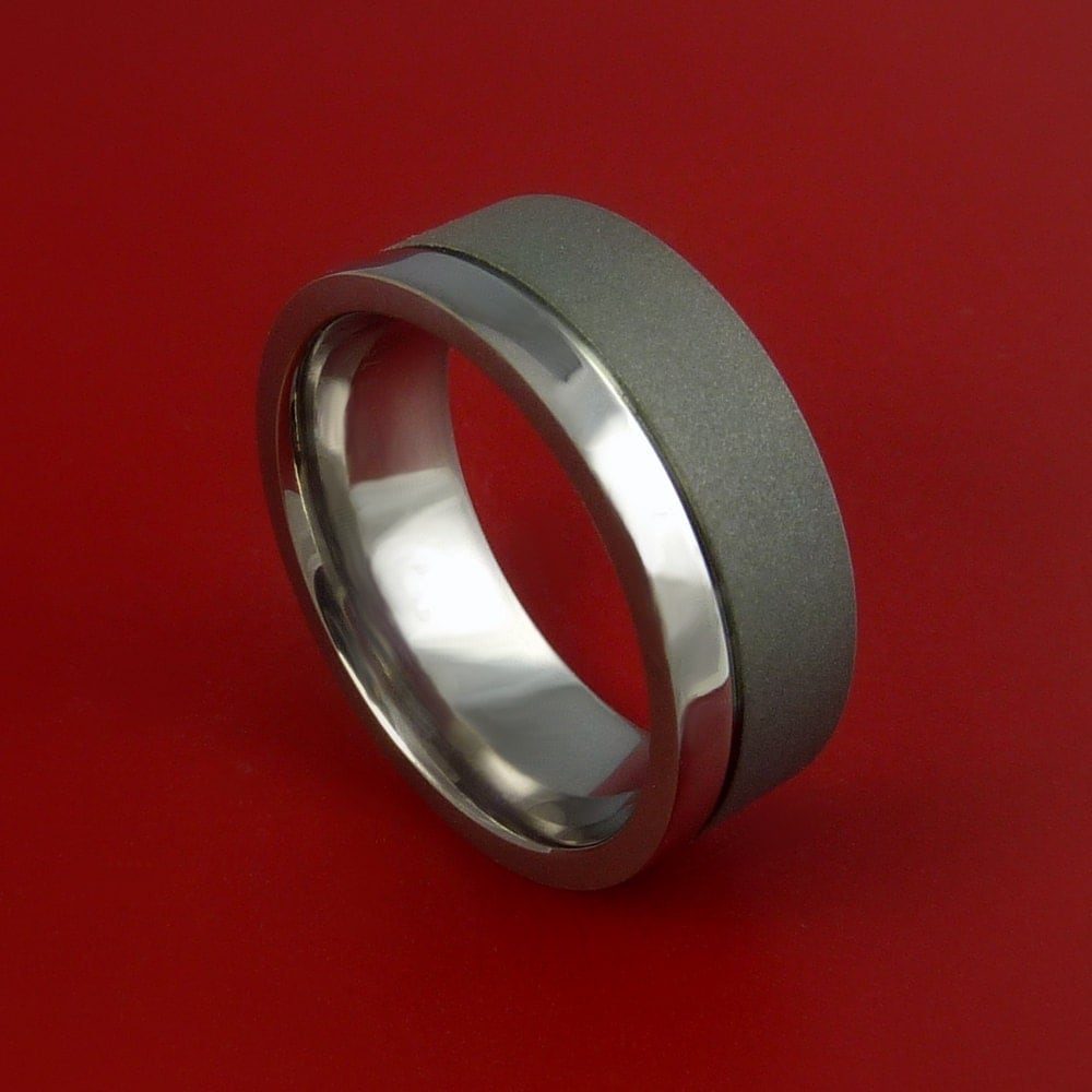 titanium wedding band engagement ring made to any sizing and