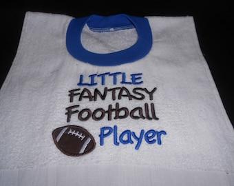 Little Fantasy Football Player, over the head bib