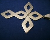 Vintage 925 Mexico Silver Cross Pendant Retro Elegant