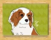 Cavalier King Charles Spaniel Magnet - I Will Kiss You - Cavalier King Charles Spaniel Gifts Dog Fridge Refrigerator Magnets