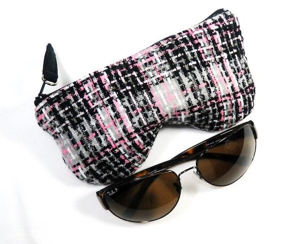 plaid eyeglass sunglasses pouch sunglasses