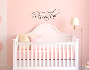 Wall Decals Wall Words Art Wall Stickers Vinyl Lettering - Precious Little Miracle