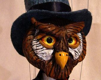 Dapper Owl Marionette