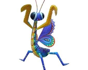 Wooden sculptures mantis mexican folk art animal woodworking insects mexican art sculptures