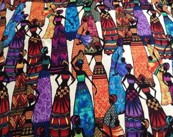 Quilter Quality Fabric -Kenya Timeless Treasures-OOP Fat Quarters
