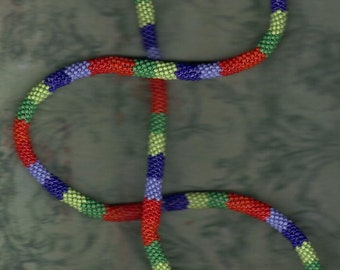 Peyote Stitch Rope Necklace or Loop Bracelet Slip Over Jewelry Beadwork Beading Glass Seed Beads