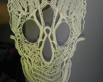 Skull Lace Appliques, Fancy Venice Lace, Cotton, For Gowns, Dresses, Fashion Projects, Altered Couture, Costume or Jewelry, Custom Orders