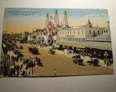 orig Luna Park Entrance and SURF AVENUE Coney Island N.Y. 1920 postcard