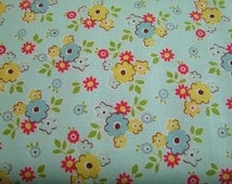SALE Sidewalks October Afternoon Riley Blake Designs 1 yard Teal Sidewalks Small Floral