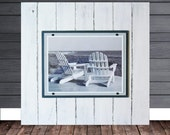 2X2 Plank Frame Distressed White for 11x14 Photo