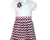 Custom Listing Chevron T Shirt Dress Infant, Toddler, Girls 6 month - 5t