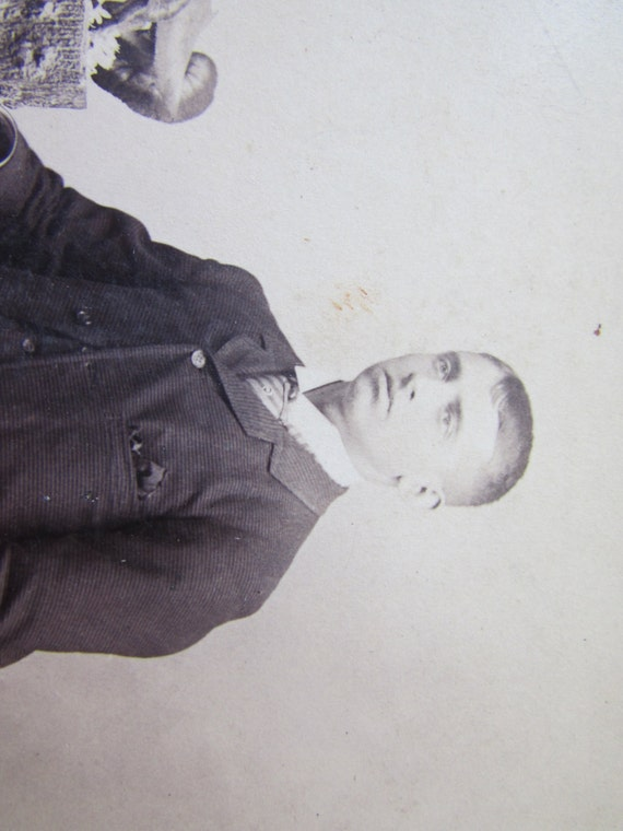 Vintage Cabinet Card Photograph Young Man