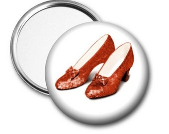 Red Ruby Slippers Pocket Mirror - can be personalized