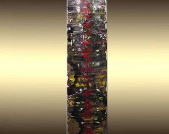 Large 4ft.Original Contemporary Modern Impressionist Abstract Painting 12X48