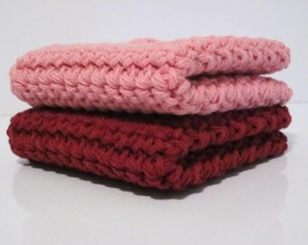Crochet Washcloth, Dishcloth - set of 2