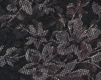 SALE Sultry Sheer Chiffon Scarf in black lace design
