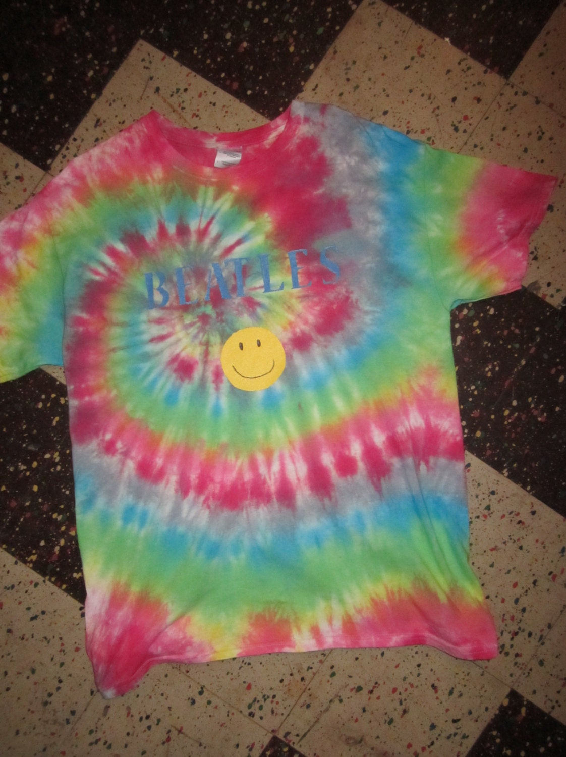 beatles tie dyes size large 4 different styles