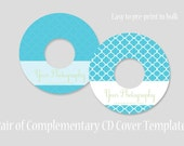 CD Cover Templates - Set of 2 - Blue Clovers