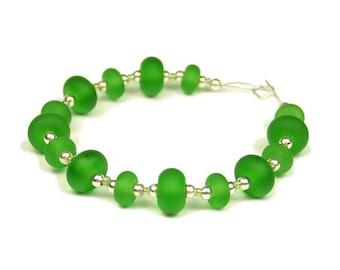 Recycled Elderflower  -  Handmade Lampwork Glass Beads