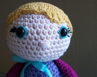 crochet doll // amigurumi // blonde blue eyes // heirloom