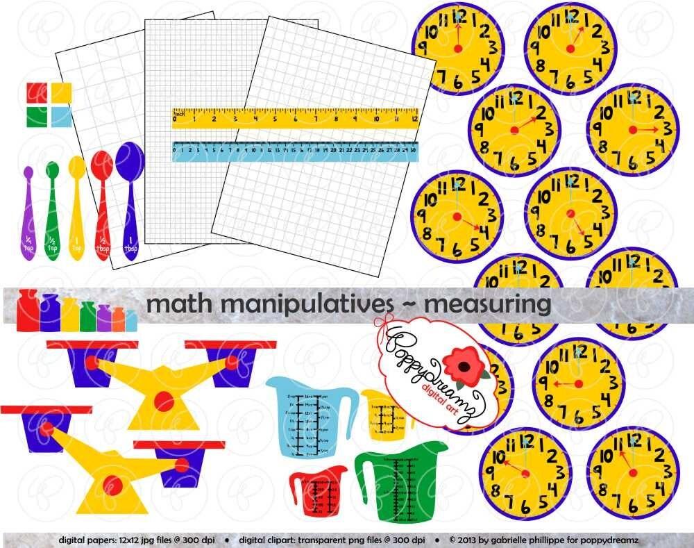 math manipulatives measuring clipart mega set 300 dpi. Black Bedroom Furniture Sets. Home Design Ideas